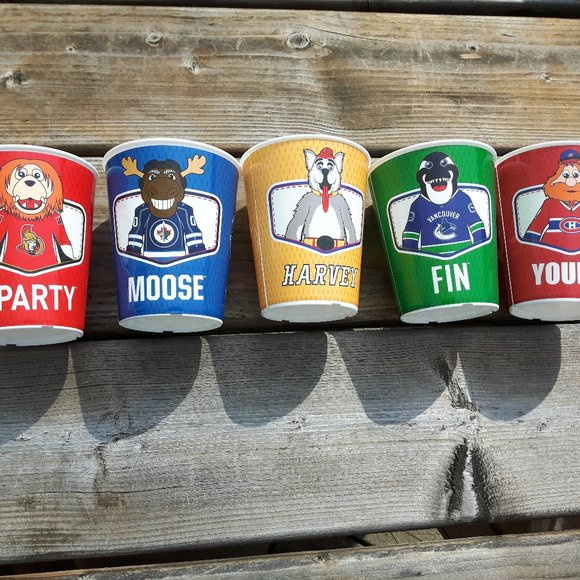 2019 NHL Mascot Cups Canadian Teams By Tim hortons
